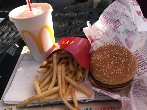 マクドナルドのハンバーガーセット
