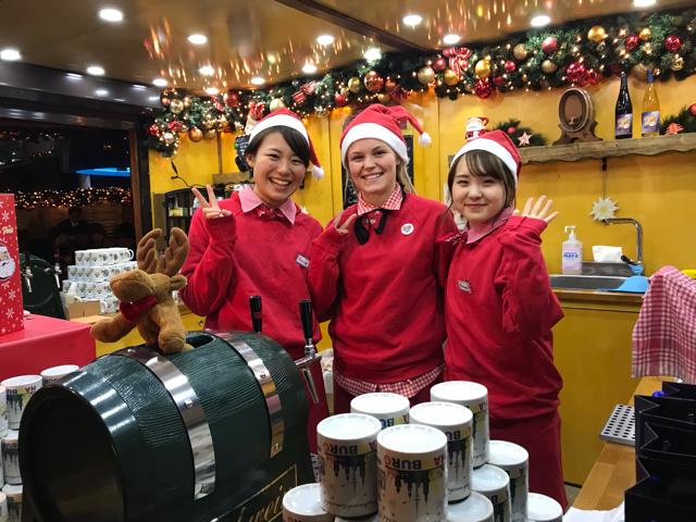 ドイツ・クリスマスマーケット大阪2018笑顔のスタッフさんたち