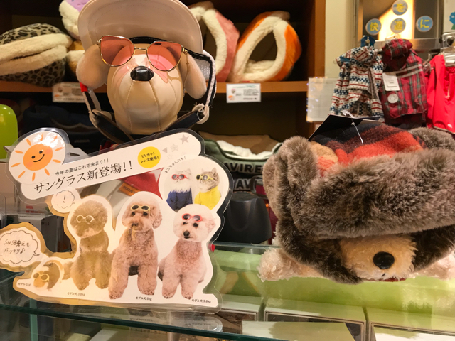 P2なんばパークス店の犬の帽子コーナー