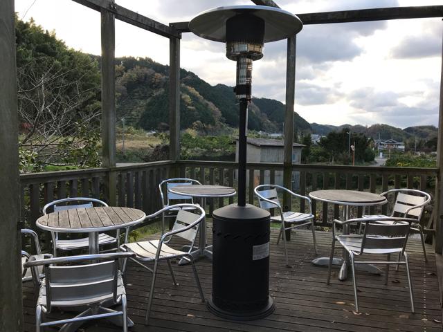 コットカフェのテラス席