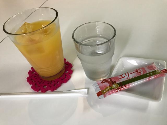モモカフェオレンジジュース