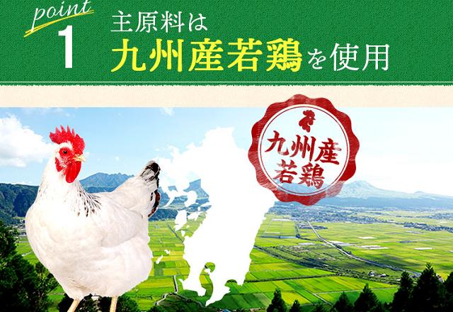 リブドッグの原材料九州産若鶏