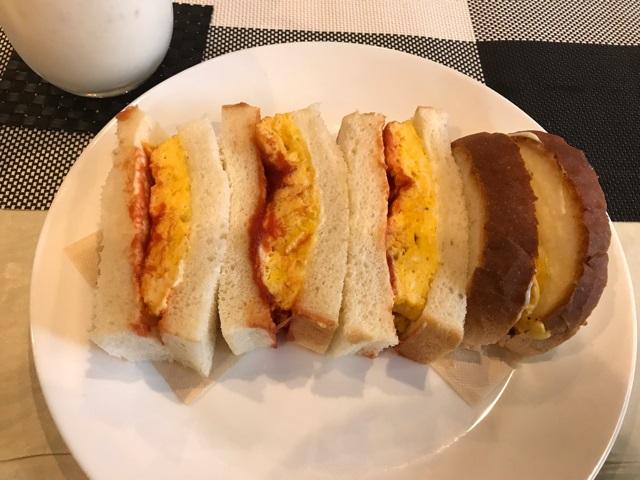 カフェバルビーの卵サンド