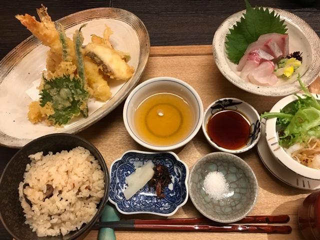 有馬グランドホテルの和楽の天ぷら定食