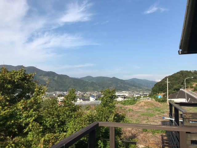 達人村(たっとむら)のテラス席から見た風景