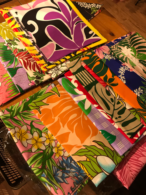 ハワイアンカフェマカマカのハンドメイドアロハシャツの生地