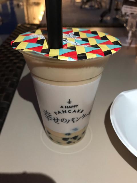 幸せのパンケーキ淡路島テラス店のタピオカ