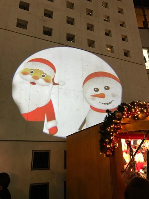 ドイツクリスマスマーケットのプロジェクションマッピング