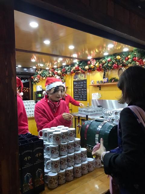 ドイツクリスマスマーケットのホットワイン屋さん