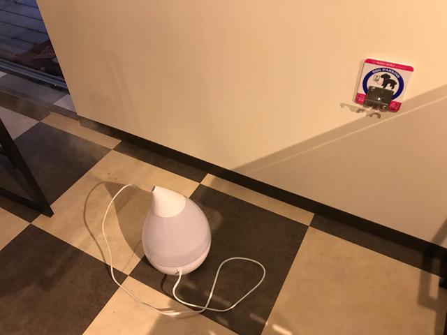 ドッグカフェメイプルの空気清浄機