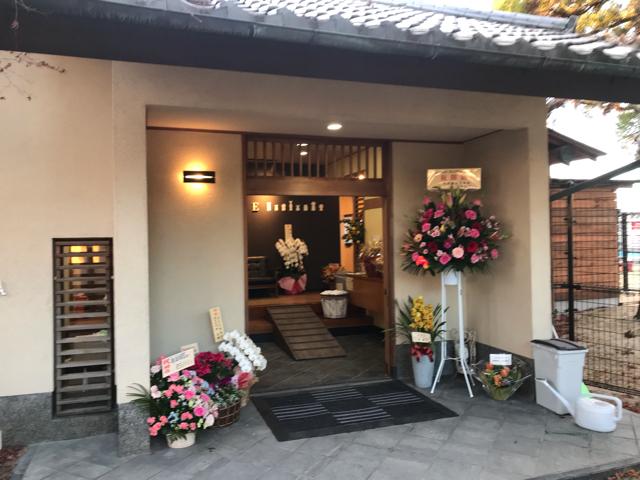 ドッグカフェメイプルの中の入口