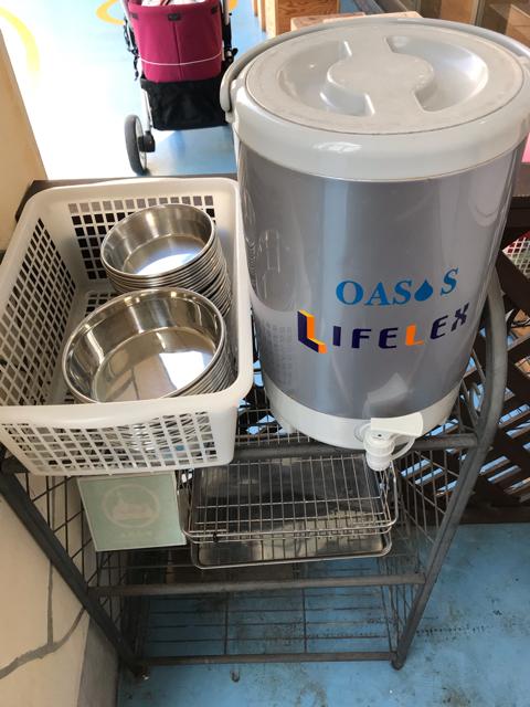 阪急ハロードッグ西宮阪急店のワンちゃん用水