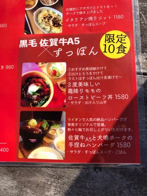 ライオンガーデン限定10食すっぽんメニュー表