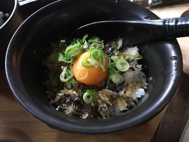 焼肉大和のオリジナル卵かけご飯