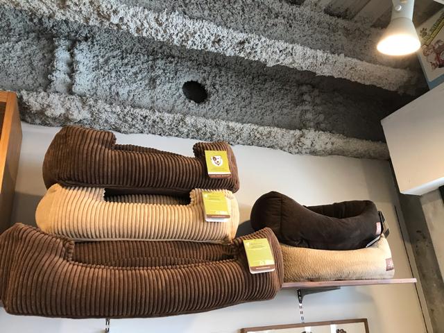 コンコードの店内にあるドッグベッド