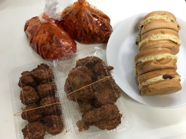 千林商店街で買い物した食べ物