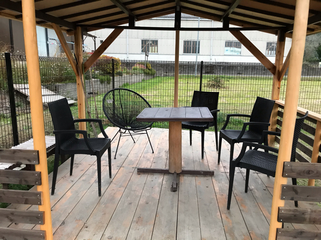 ゲストハウス山ぼうしちゃんのドッグラン休憩所