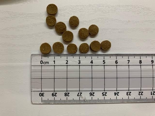ドクターケアワンの粒のサイズ